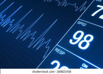 Heart Rate Monitor Illustration. Health Technology Concept