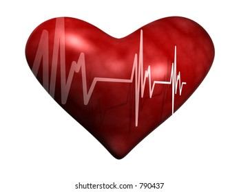 Heart with Heart Rate skipping a beat