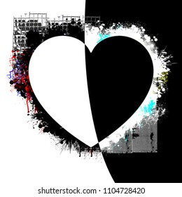 Black And White Heart Images Stock Photos Vectors Shutterstock