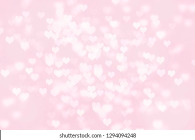 Heart shape Valentine day bokeh background