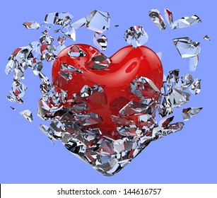 Heart shattered the icy fetters