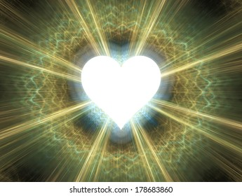 Heart shinning in light.
