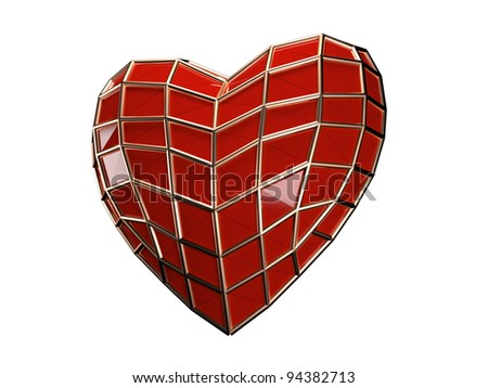 Heart of spiderman isolated