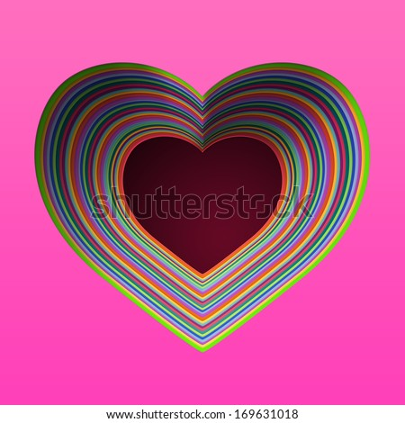 Royalty Free Stock Illustration Of Heart Symbol Clip Art Color Paper