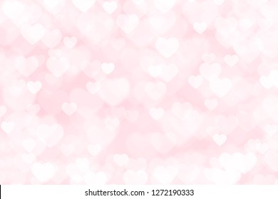 Heart valentine light pink background
