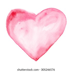 Heart. Watercolor drawing
