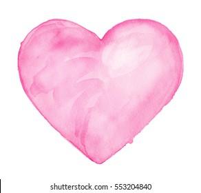 Heart. Watercolor illustration