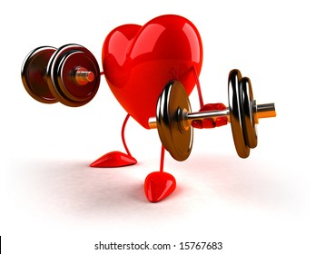 Heart with weights