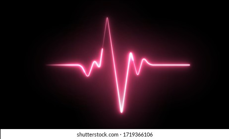 Heartbeat laser neon effect. Healtcare, medical or gym concept.