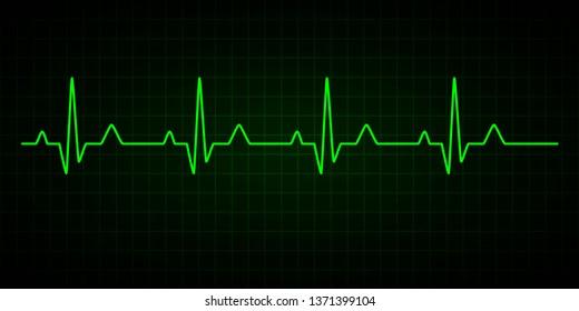 Heartbeat line. Cardiogram. Electrocardiogram. illustration.
