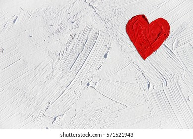 Hearts illustration on colorful background. For valentine's day, mother's day, wedding illustration. For creativity, imagination, greetings cards, posters.Oil painting on canvas.