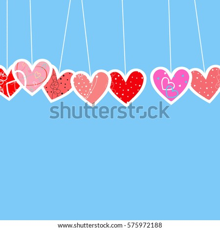 Royalty Free Stock Illustration Of Hearts Romantic Background Symbol