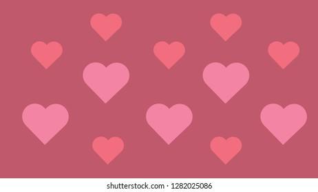 Hearts texture. Pink gradient. Valentines day wallpapper