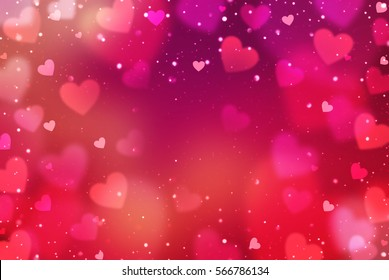 Hearts. Valentine's Day abstract background with hearts