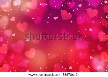 hearts valentines day abstract background heartsのイラスト素材