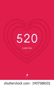A heart-shaped pattern says 520