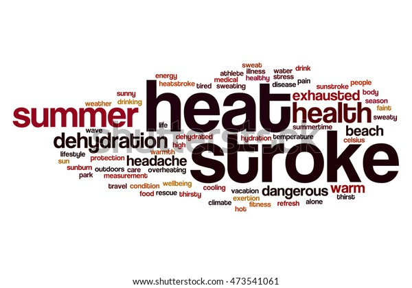 Heat Stroke Word Cloud Concept Stock Illustration 473541061