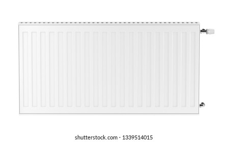 Heating radiator isolated on white background, front view. 3D illustration