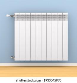 heating radiator on wall. 3D illustration
