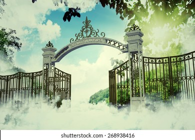 heaven gate in an old illustration