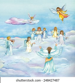 Choir of Angels Images, Stock Photos & Vectors | Shutterstock