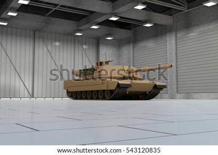 Fußboden Günstig Tank ~ Heavy military tank modern hangar d stockillustration
