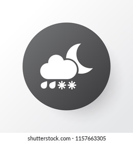 Heavy sleet night icon symbol. Premium quality isolated storm element in trendy style.