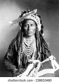 Heebe-tee-tse of the Shoshone Nation. Ca 1899