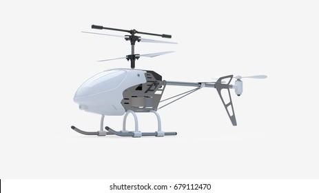 Helicopter 3D-illustration.