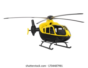 Helicopter isolated on white background. 3D rendering