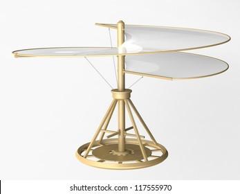 Vrtulník, Leonardo da Vinci, Francie Manuscripts-b/0083V
