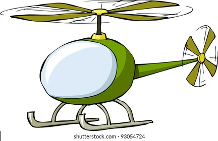 Helicopter on a white background, raster