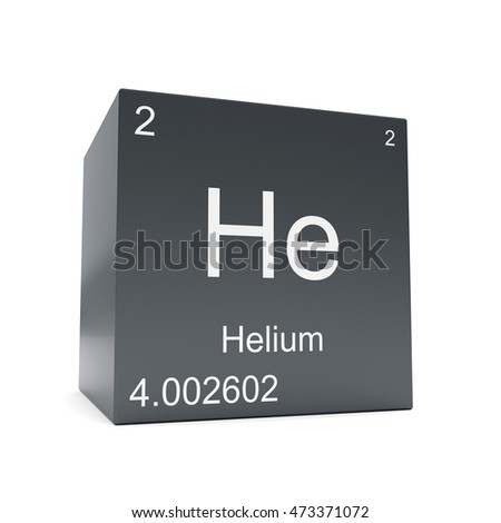 Helium Chemical Element Symbol Periodic Table Stock Illustration