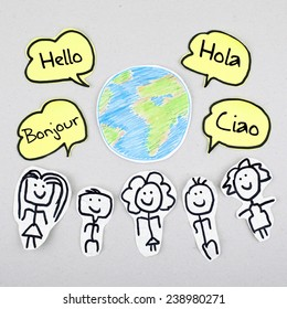 Hello in Different Languages / Learning Speaking Foreign Languages