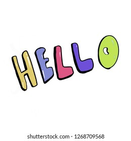 Hello hand drawing graphic