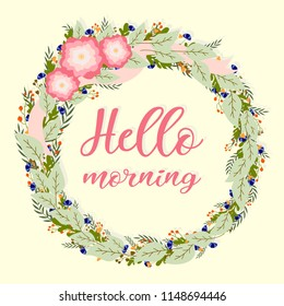 hello morning card