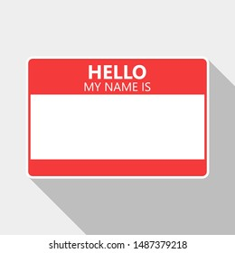Hello My Name Is  Tag Name Sticky  Illustration