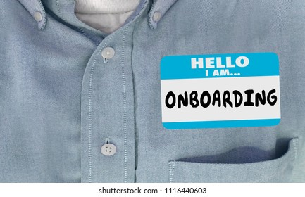Hello I Am Onboarding New Employee Nametag 3d Render Illustration