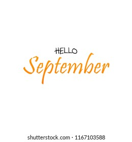 Hello September - Greeting Card Illustration