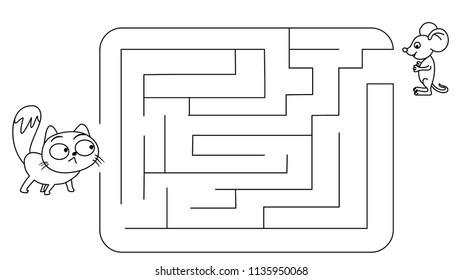 Cat Mouse Game Math Maze Computer