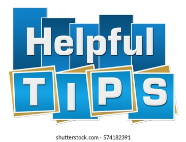 Helpful Tips Blue Squares Stripes