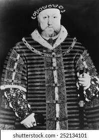 Henry VIII (1491-1547), King of England, and Ireland, from 1509 until his death. Portrait by Hans Holbein the Younger, 1540.
