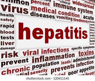 Hepatitis medical poster concept. Dangerous infections warning message