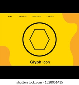 Heptagon Geometric Shape Icon For Your Design,websites and projects.