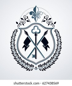 Heraldic Coat of Arms, vintage emblem.