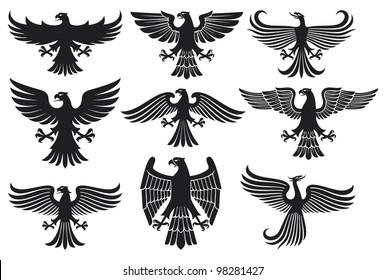 heraldic eagle set (design elements)