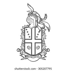 heraldic royal crests coat arms heraldry stock illustration