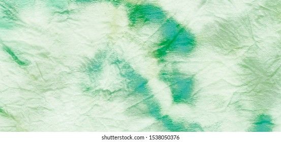 Herbal Concept. Vintage Drawn Texture. Herbal Bio Style. Natural Biological Eco. Grassy Emerald Color. Hand Painting Fabric. Gentle Organic Design. Colorful Painted Gradient.