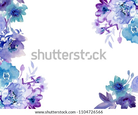 Herbal Frame Summer Botanical Design Banner Stock Illustration ...