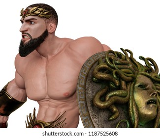 hercules the greek hero in a white background, will put some creative sensor at yours creations, 3d illustration